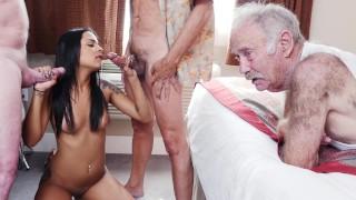 BLUE PILL MEN - Geriatric Friends Having Loads Of Fun With Sexy Latina Nikki Kay