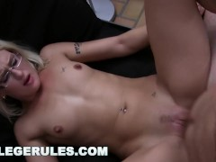COLLEGE RULES - Dorm Room Orgy With Group Of Rowdy Teens!