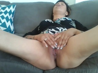 Making my tight pussy cum prior to hot stepson coming home from College!!!!!