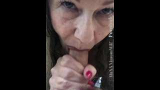 Hungry Mature Milf Cock Worship & Oral Creampie Outdoors POV Tease - 15+min video on Onlyfans