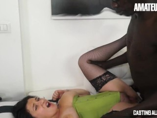 CASTINGALLAITALIANA – Curvy Romanian Brunette Drilled Deep In Her Ass By BBC