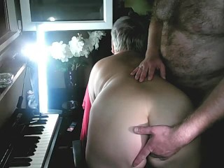 I Fuck My Bitch On The Balcony In A Public Show! Now suck my dick, you dirty slut! Spread asshole!