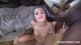 gangbang bbc team destroyed her small asshole