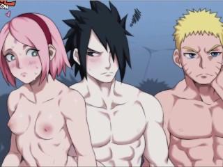 Naruto sasuke x hinata sakura ino animation uncensored...