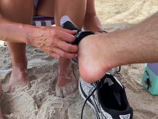 Florida treating daddy right public foot massage florida...