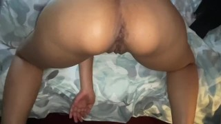 Dominican Ebony Milf gets Creampied by Her Daddy