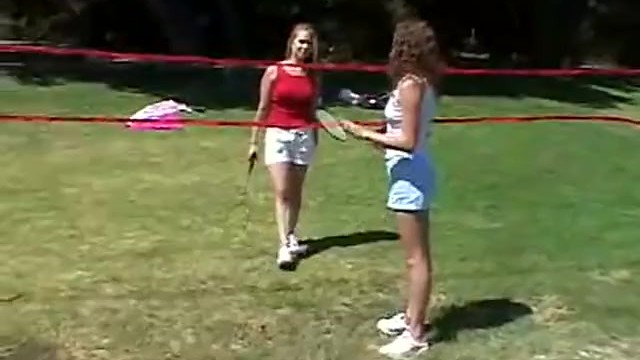 Little April Kisses Her Lesbian Love Outdoors And Licks Her 13