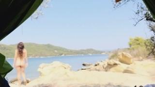 Nudism at sea shore wild camping