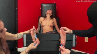 Scarlett Topless and Double Teamed in the Tickle Chair - (preview)