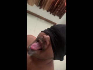 Indian young man releases his hot cum load...