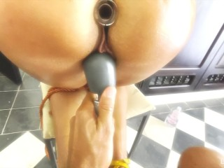 Tied up torture my pussy with the magick...