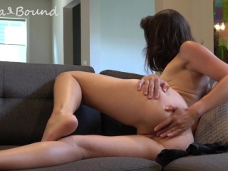 Anna bound gets ready for anal only august...