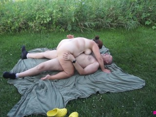 Tape george making love on front lawn...