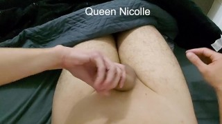 Cuckold with interrupted orgasm