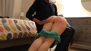 Bent Over Chair - No More Squirming Spanking