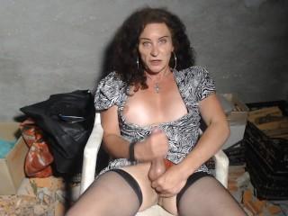 Mature busty hung big spunk woodshed...