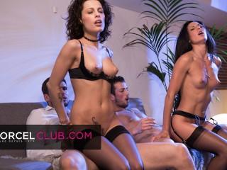 Nikita and alexa enjoy with strangers...