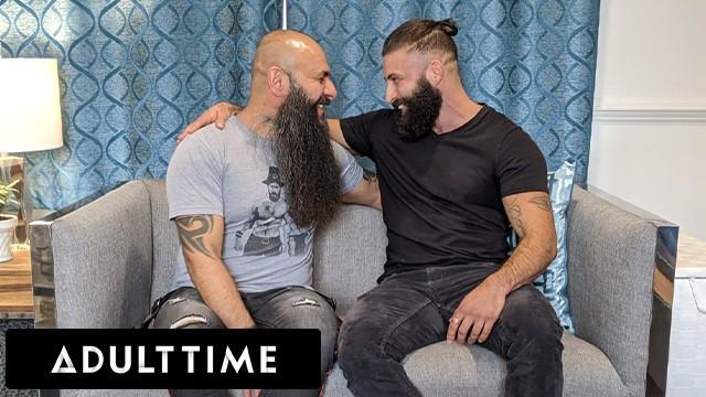 ADULT TIME - Trans Stud Trip Richards Savors Bear Partner's Huge Cock