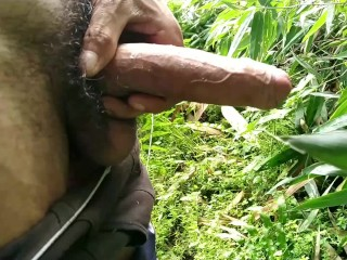 Horny boy forest...