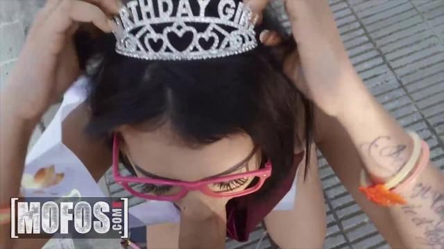 Mofos - Birthday Girl Kitty Love Gets A Suprise Birthday Gift At The Street From Jordi El Nino Polla 20