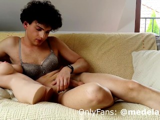 Shemale first time with sex doll...
