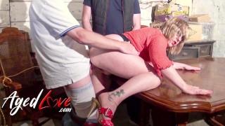 AGEDLOVE Busty Mature Auntie Trisha Managing Two Cocks in Hardcore Ways