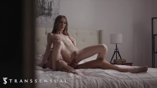 TransSensual - Blonde Crystal Thayer Seduces Her Brother's Friend Chris Damned & Sucks His Cock