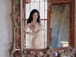 Naked goddess takes a bath...