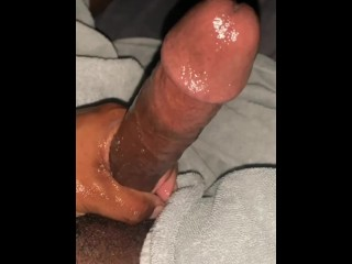 ONLYFANS guy moans and gets FREAKY and TALKS DIRTY while STROKING Monster cock for HUGE LOAD