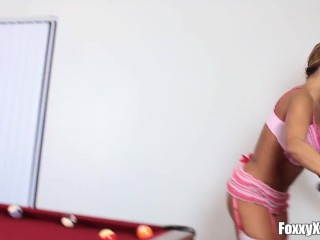 Inked TS Foxxy Seduces MILF Ava Devine And Dominates Her