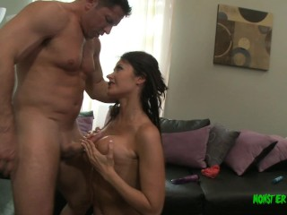 Milf eva pounding by muscle daddy john after...