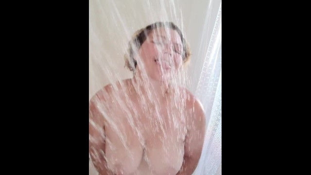Dirty Blond bouncing her tits in the shower 11