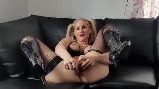 Tripple pussy xl anal, swedish felisie tied up and face fucked before getting her ass fucked good.