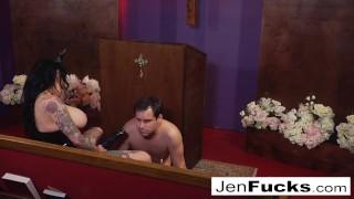 Gorgeous Big Tittied Lesbian Straps On A BBC