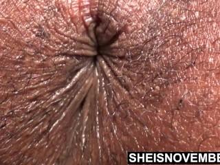 Closeup hairy sphincter ebony bootyhole winking by sheisnovember...