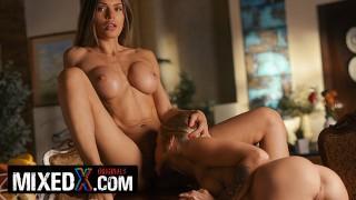 MIXEDX Lesbian milf Kitana Lure use herinnocent stepsis, Alexa, to satisfy her sexual needs
