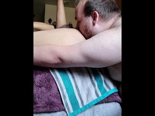 Rimming and raw fucking his lucky...