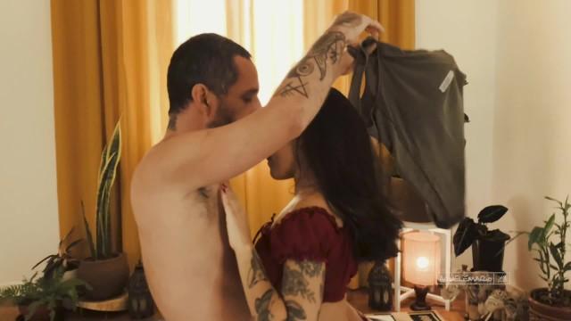 Intimate and romantic amateur sex with cum inside  Natth and Aquele_Mario 1