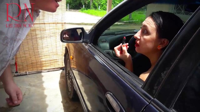 Lovely car blowjob in the parking lot. FULL VIDEO 19