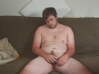 Condom and uses cum as lotion on chest...
