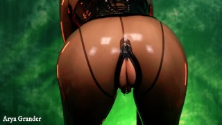 Latex Rubber VERY SLOW MEDITATIVE fetish JOI and teasing from Arya Grander