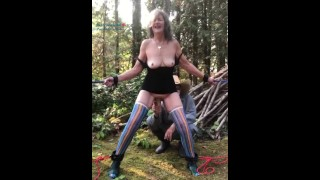 Hot Mature MILF Tied Up Outside, Stretched & Fisted BDSM Orgasms