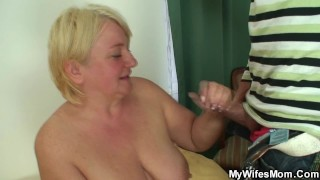 He doggy-fucking busty blonde motherinlaw