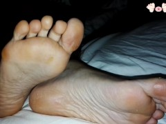 She is relax after a night in the club and her Feet are Tired and Smelly - Feal Anet