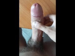 Russian country guy jerking off big cock
