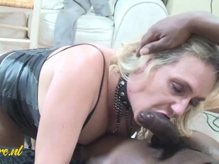 Big Natural Breasted MILF Loves Playing With Big Black Cocks!