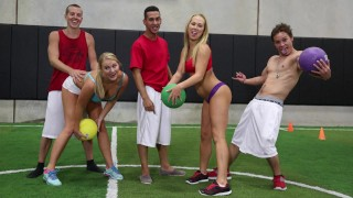 COLLEGE RULES - An Amazing Game Of Strip Dodgeball With Gorgeous Teen Students