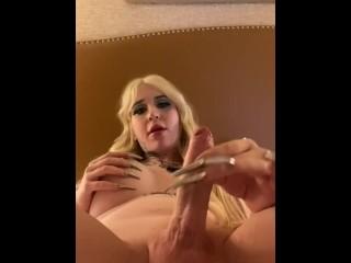 Hung blonde her huge ts gushes sissy loads...