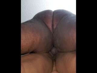 Ebony chubby bhm fucks ebony bbw milf balls deep part2 asmr