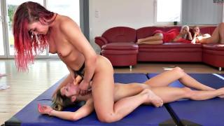 Redhead vs Brunette in Final Sexmatch - Hardcore scissoring, fingering & strapon fuck